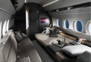 Falcon 6X - Photo courtesy Dassault- lounge