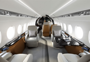 Falcon 6X - Photo courtesy Dassault- sièges