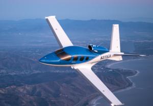 Cirrus Vision jet privé en vol