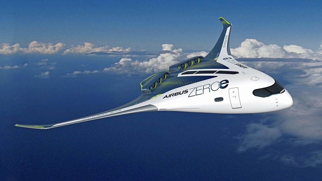 Airbus - avion à hydrogène à aile volante