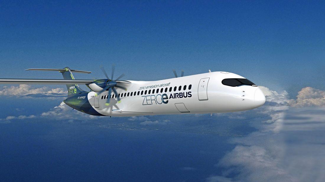 Airbus - turbopropulseur à hydrogène