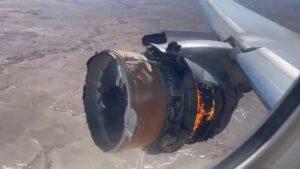 Moteur à feu du Boeing 777-200