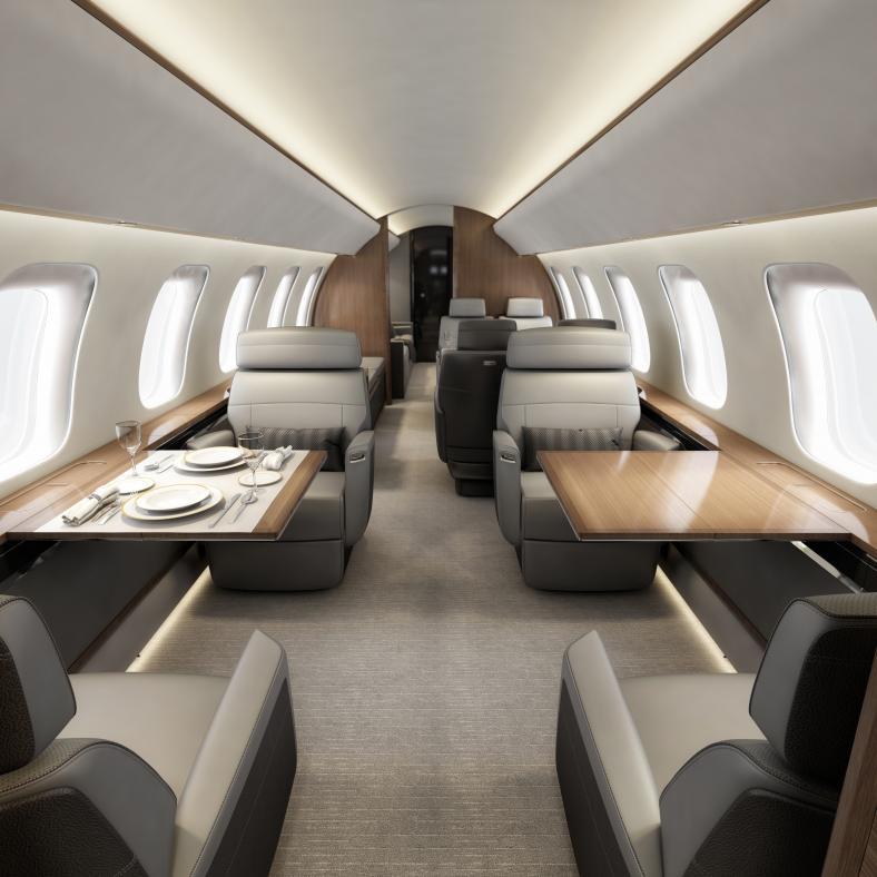 Bombardier Global 8000 - intérieur