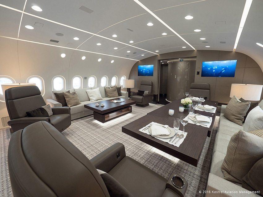 Kestrel Aviation Management - BBJ - Living